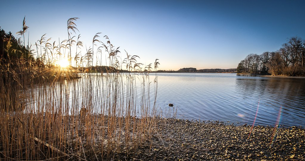 Sonnenuntergang am Seehamer See