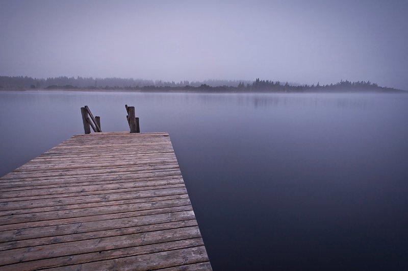 Kirchsee im Nebel