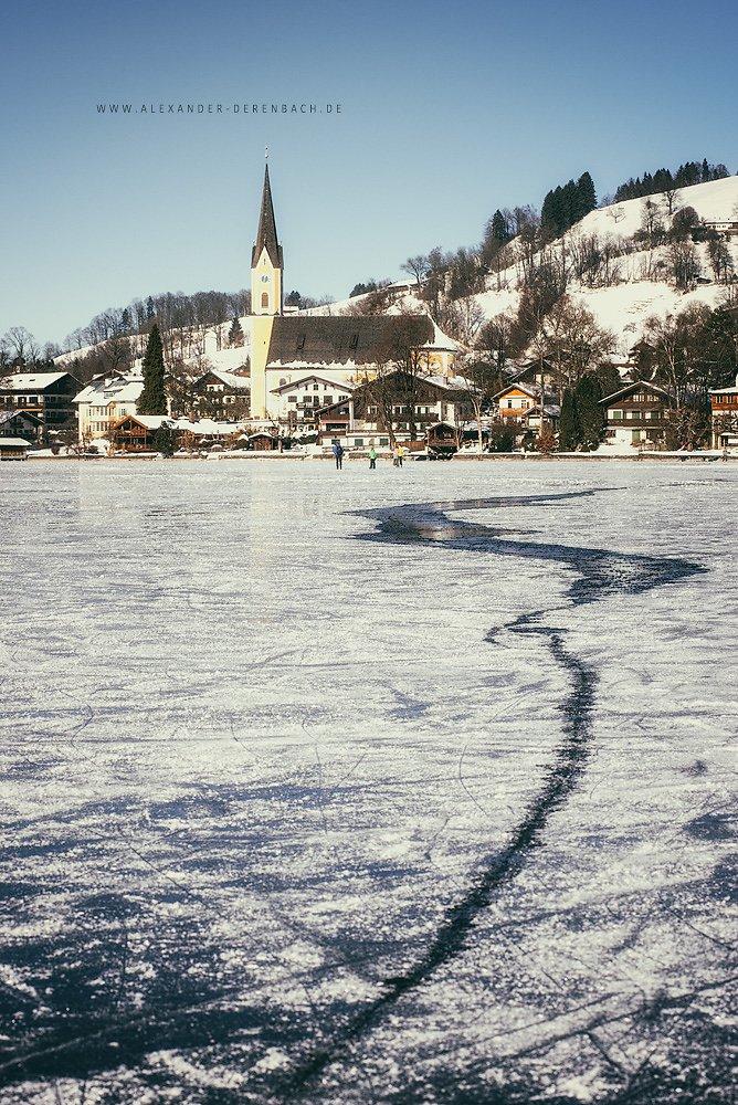 Eis auf dem Schliersee